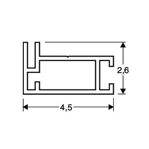 ACHTE Aluminiumprofil 20.70 Zeichnung