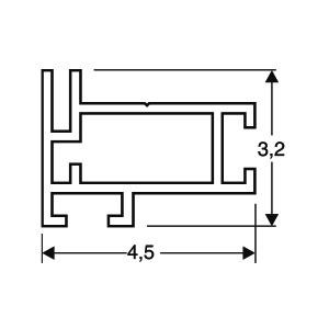 ACHTE Aluminiumprofil 20.71 Zeichnung