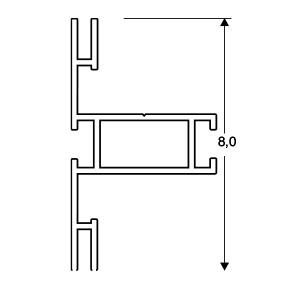 ACHTE Aluminiumprofil 20.73 Zeichnung