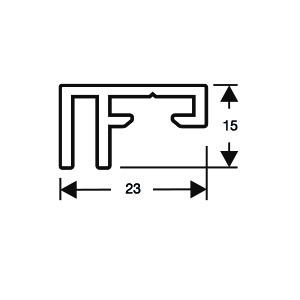 ACHTE Aluminiumprofil 20.74 Zeichnung