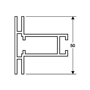 ACHTE Aluminiumprofil 26.15 Zeichnung