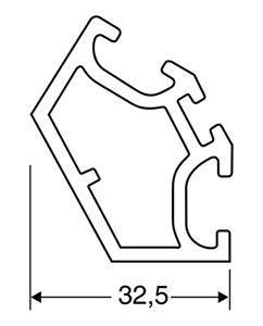 ACHTE Aluminiumprofil SP-02 Zeichnung