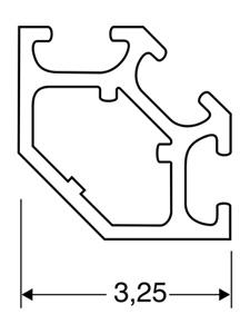 ACHTE Aluminiumprofile SP-03 Zeichnung