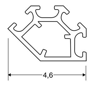ACHTE Aluminiumprofil SP04 Zeichnung