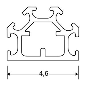 ACHTE Aluminiumprofil SP05 Zeichnung