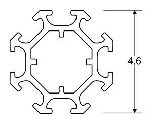 ACHTE Aluminiumprofil SP08 Zeichnung