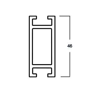 ACHTE Aluminiumprofil ZP46 Zeichnung