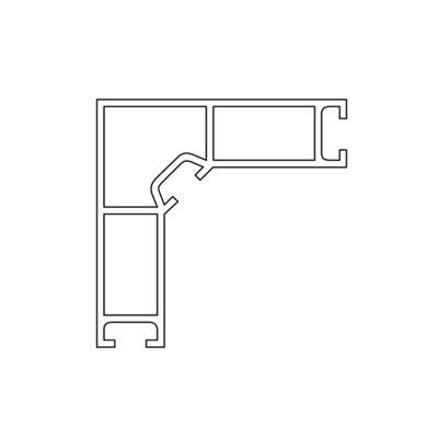 ACHTE Vvitrinenprofil EP7.7 Zeichnung