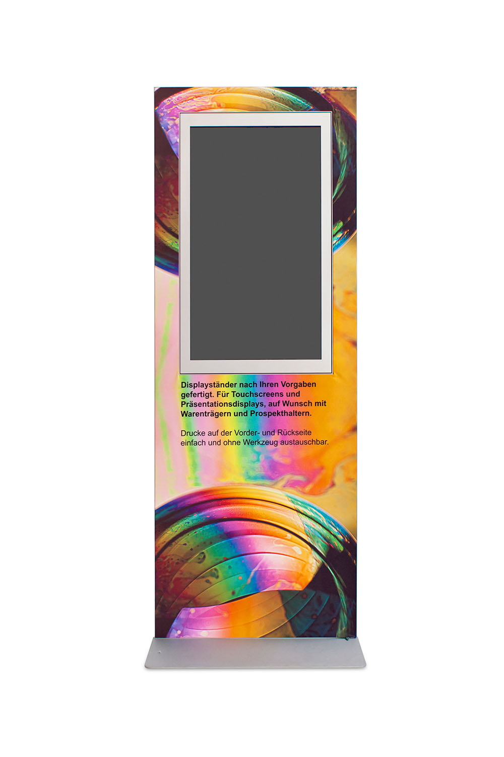 Displayständer mit Monitorausschnitt
