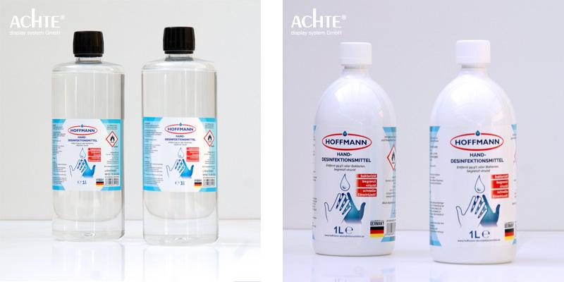 1 Liter Flasche Desinfektionsmittel von der Firma Hoffmann