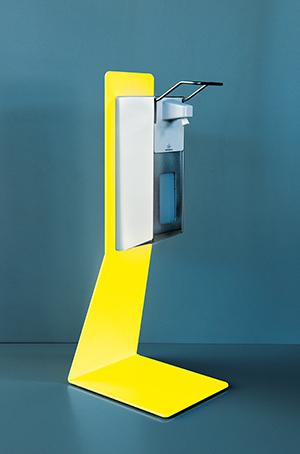 Desinfektionstischständer Stahl Variante gelb