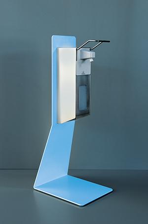 Desinfektionstischständer Stahl Variante hellblau