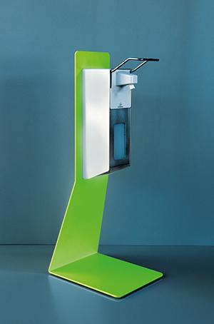 Desinfektionstischständer Stahl Variante hellgrün