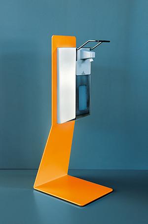 Desinfektionstischständer Stahl Variante orange