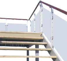 Stahlbühne Aufgang