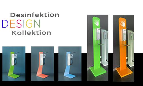 Designkollektion Desinfektionsprodukte