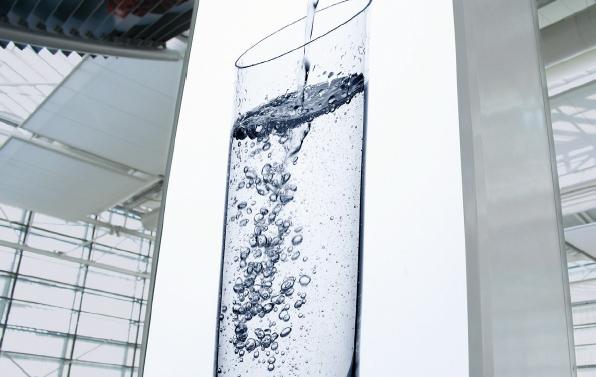 Leuchtkasten Wasserglas