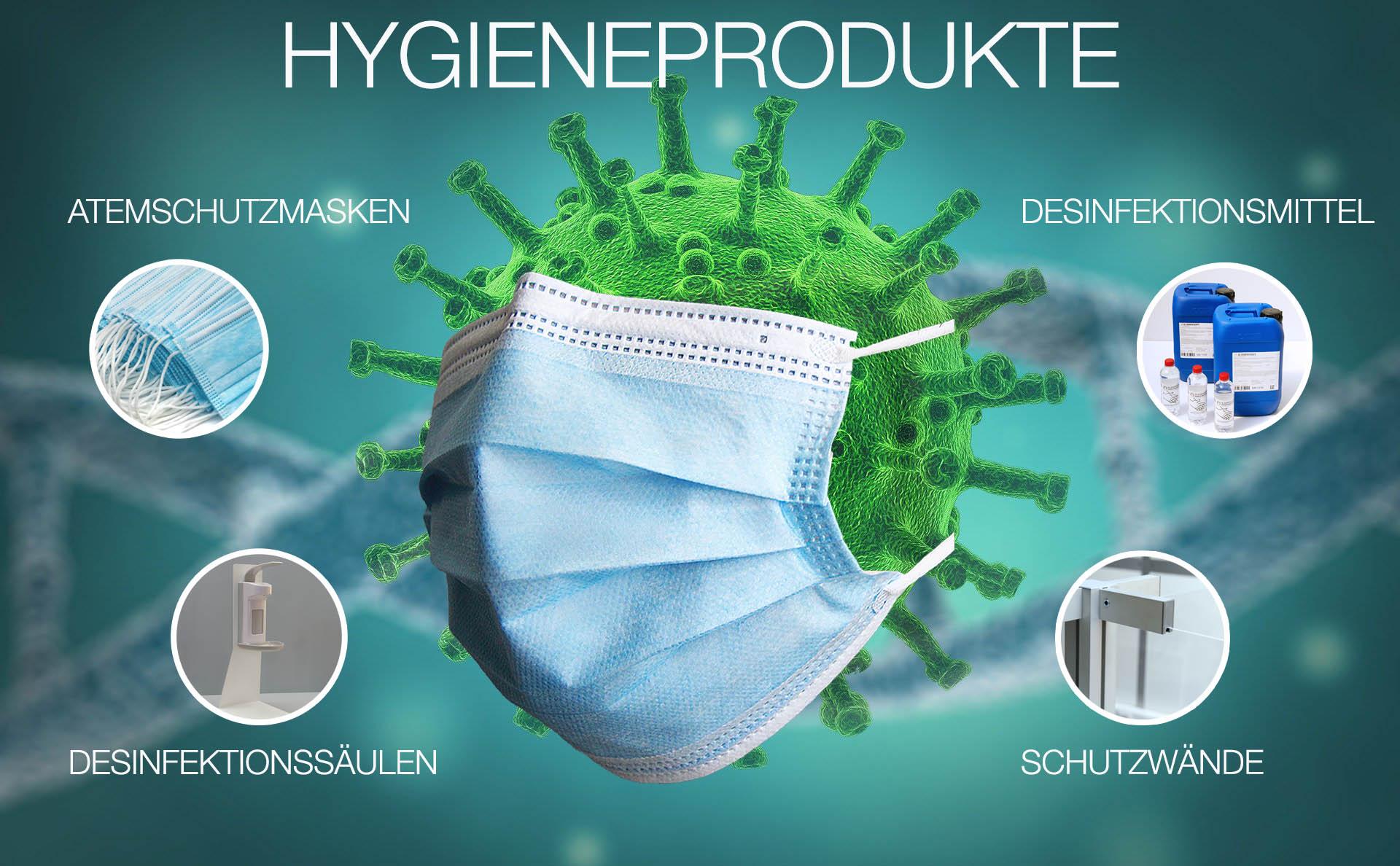 Darstellung Hygieneprodukte
