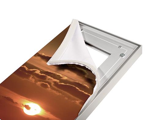 Aluminiumrahmen Motiv einspannen